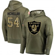 Youth Raekwon McMillan Las Vegas Raiders Olive Salute to Service Pullover Hoodie